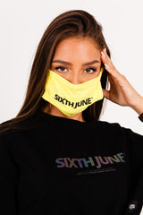 Masque logo Sixth June jaune