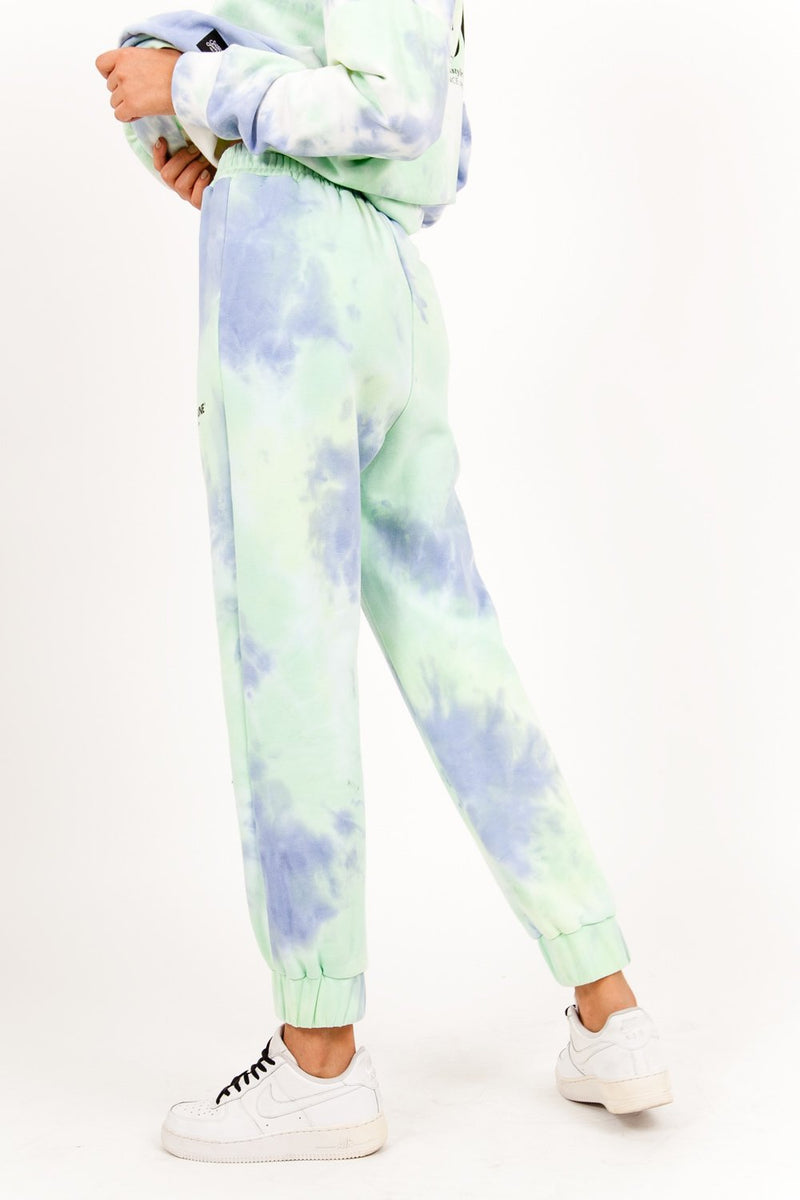 Jogging tie and dye bleu