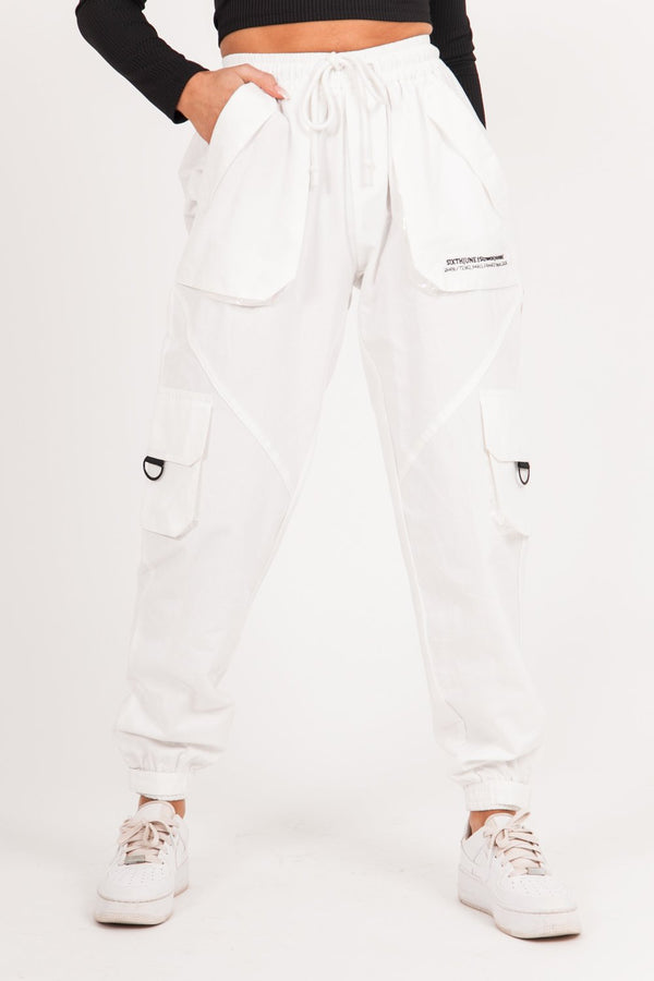 Large cargo pants white