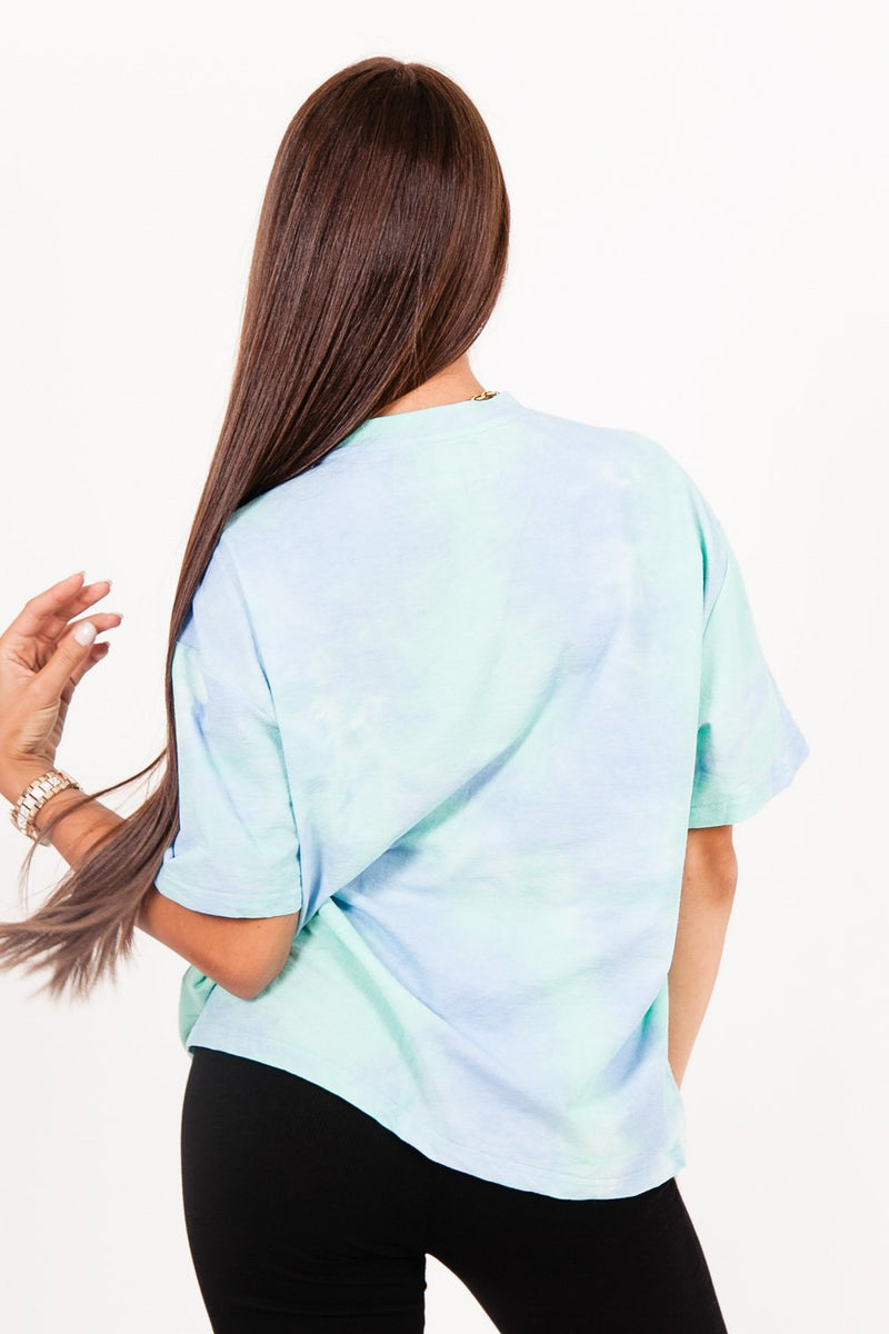 T-shirt tie and dye bleu