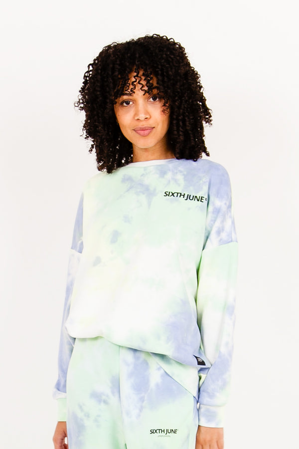 Sweat tie and dye bleu