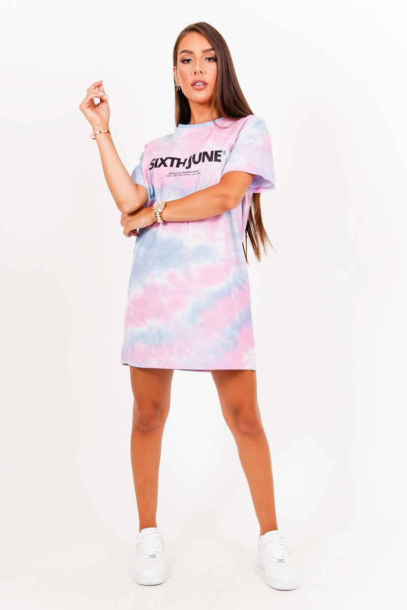 Robe t-shirt tie and dye rose