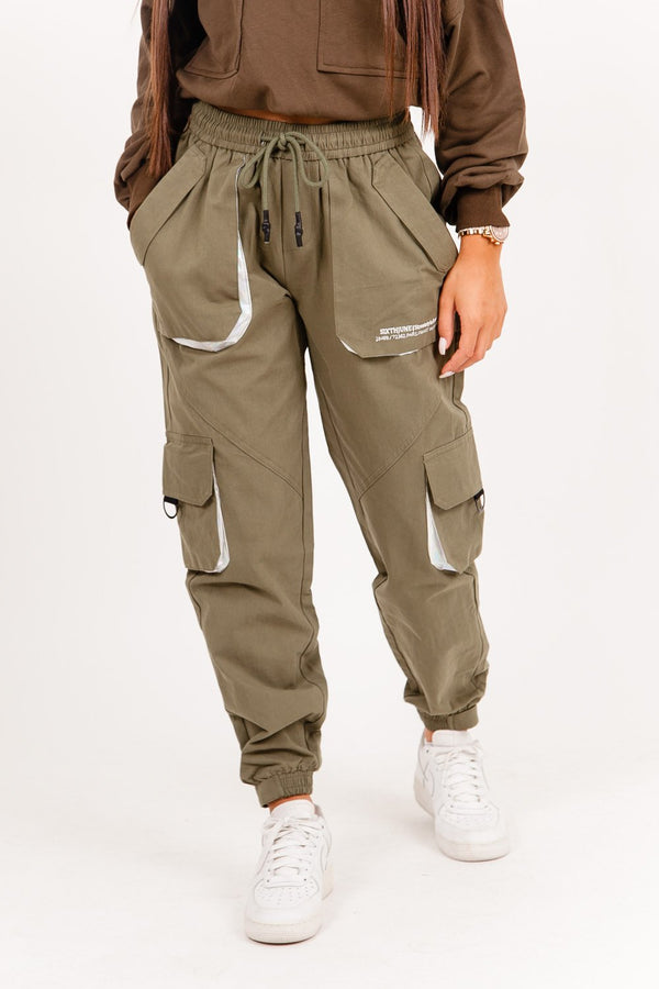 Cargo belt pants Khaki