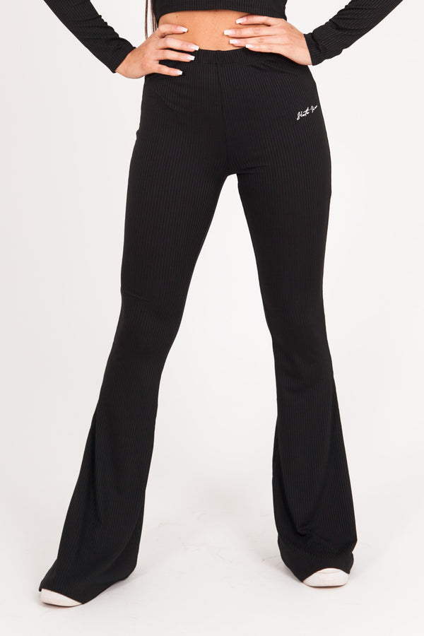 Signature Logo Flare Trousers Black