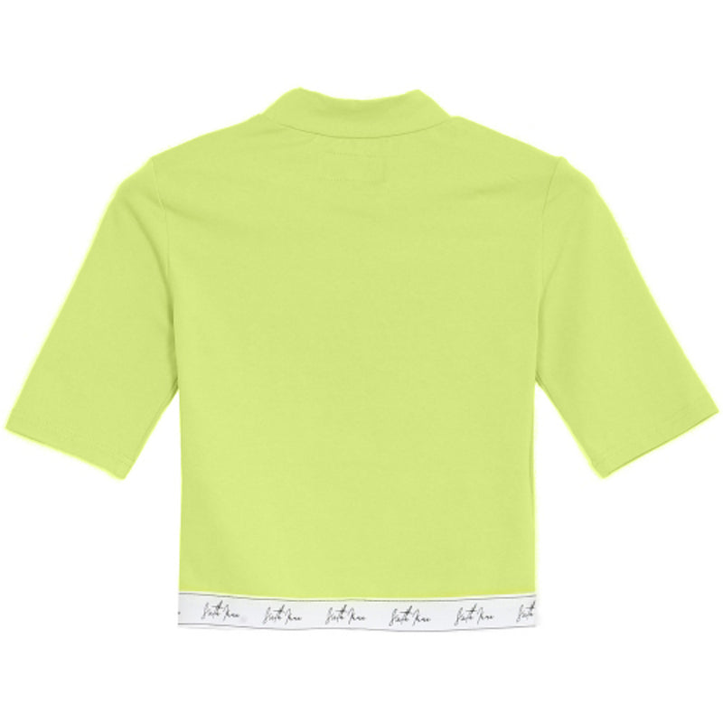 Big Signature Logo Cropped T-Shirt Lime