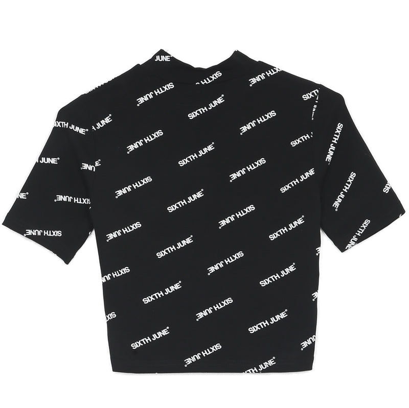 Logo All-Over T-Shirt Black