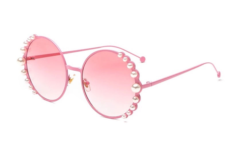 Lustrous Pearl Sunglasses - Pink