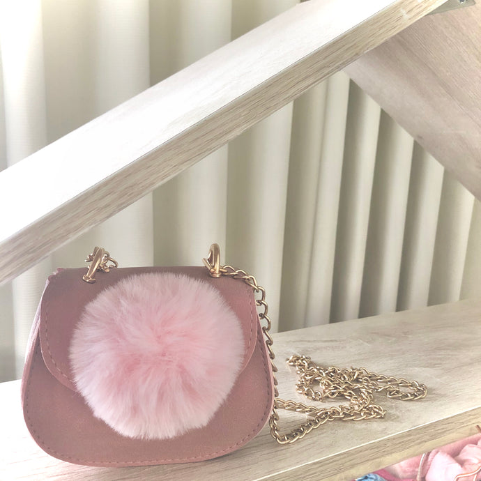 'You're the Pom' Crossbody Bag - Pink