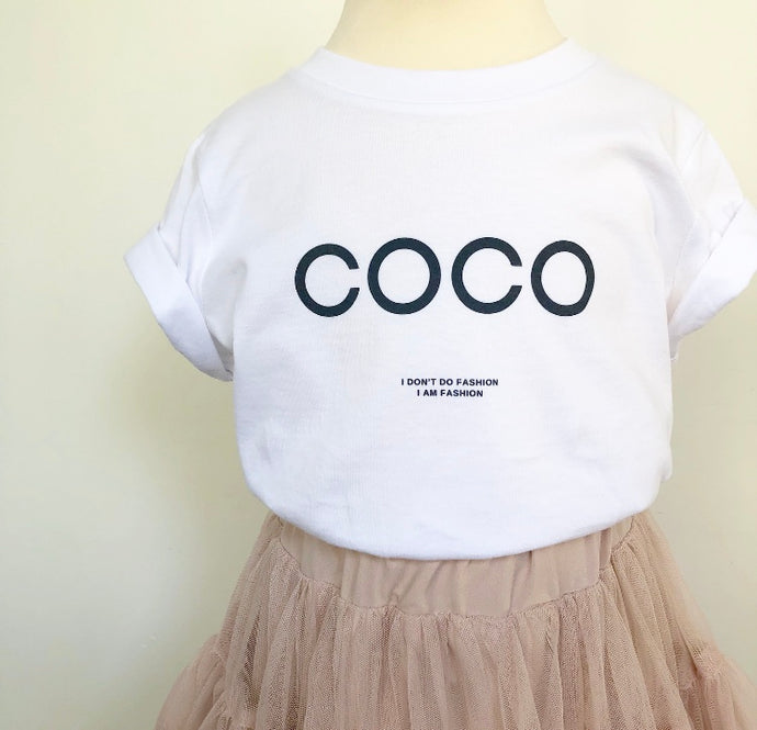 Coco Chanel kids t-shirt