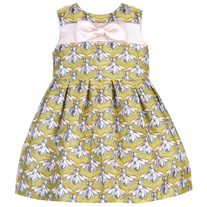 Hucklebones Baby Bodice Dress & Bloomers – Bee Jacquard front