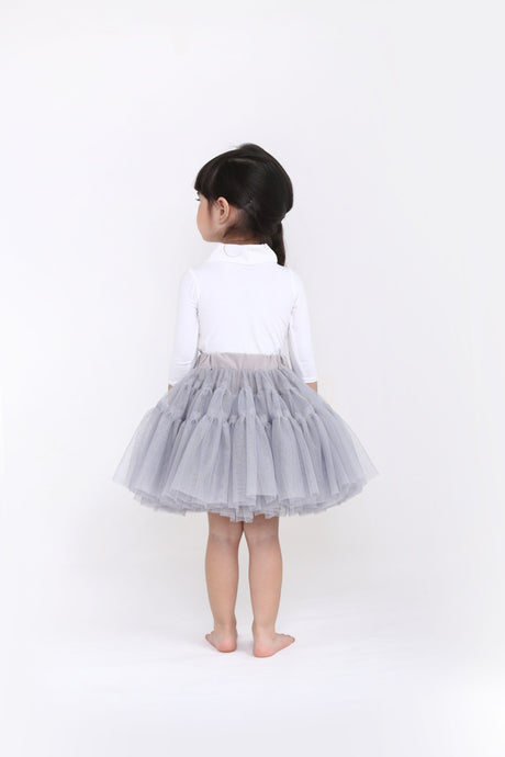 Light Grey Classic Tutu Skirt Spinkiewear