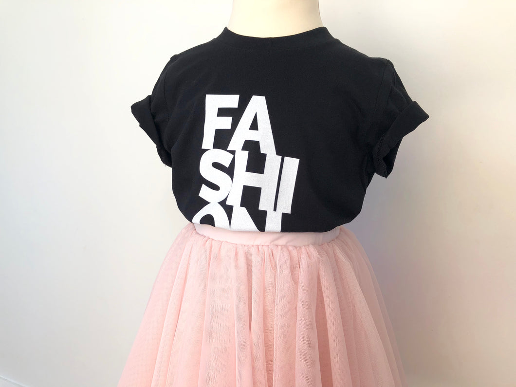 For Fashion Sake girls slogan t-shirt - Black