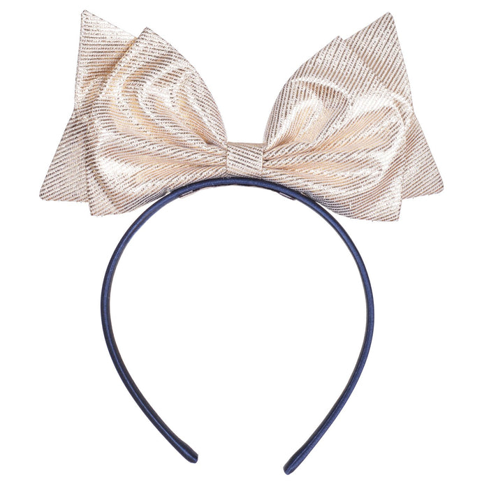 Hucklebones Gold Present Giant Bow Hairband