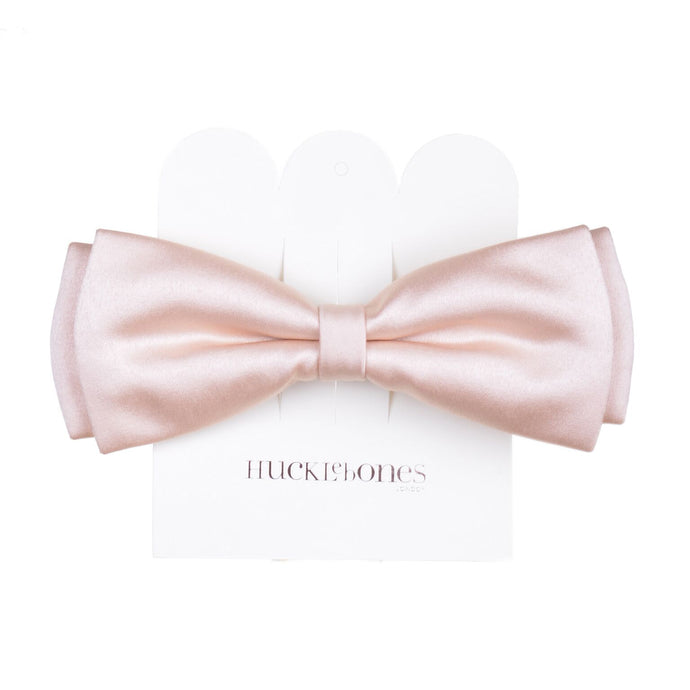 Hucklebones Bow Hair Clip - Blush Satin