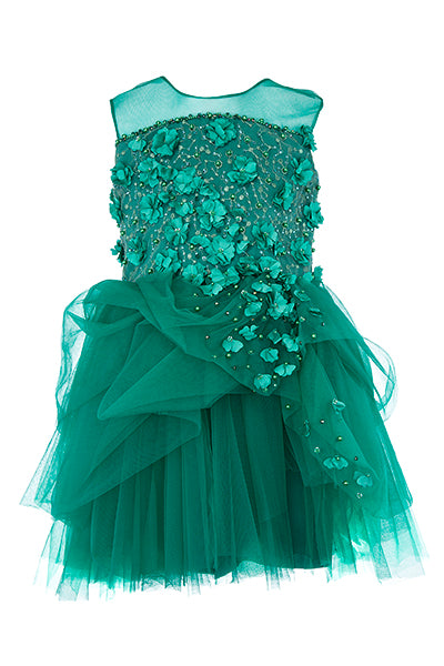 Soapbox Kids Meet Me In The Meadow Dress - Emerald Green