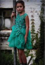 Soapbox Kids Meet Me In The Meadow Dress - Emerald Green styled front