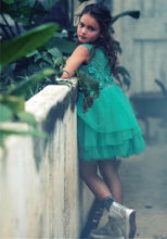 Soapbox Kids Meet Me In The Meadow Dress - Emerald Green styled back