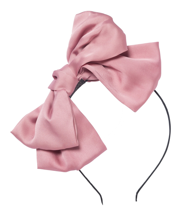Dolly by Le Petit Tom Big Hairbow Headband Dusty Pink