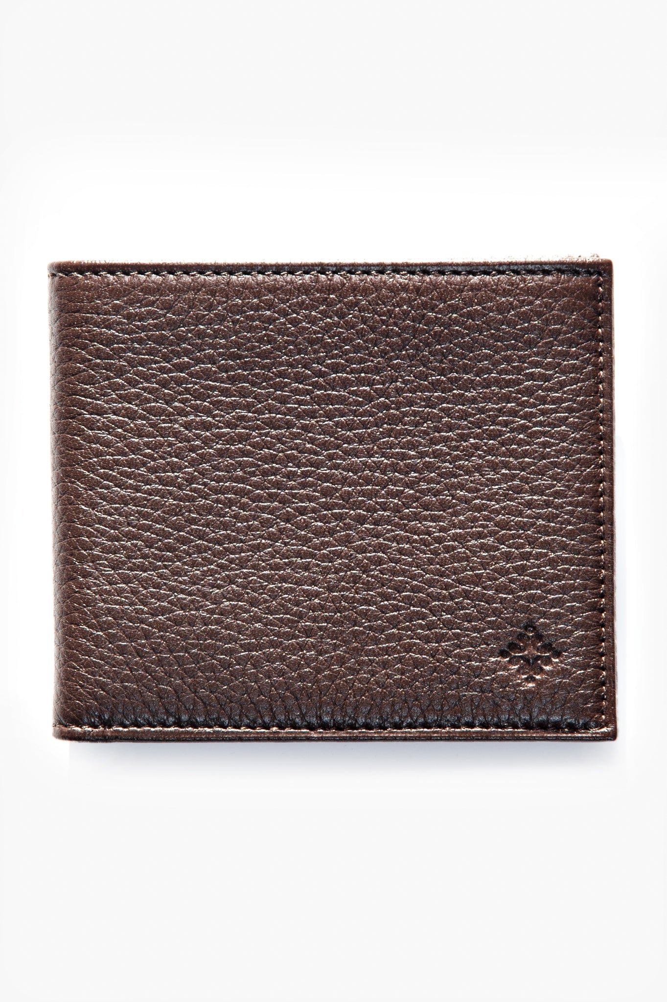 Benjamin 100% Deerskin Leather horizontal wallet (dark brown)