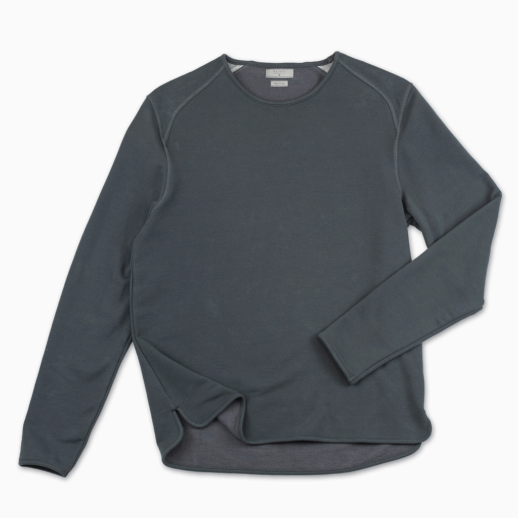 Albin crew-neck fleece (charcoal)