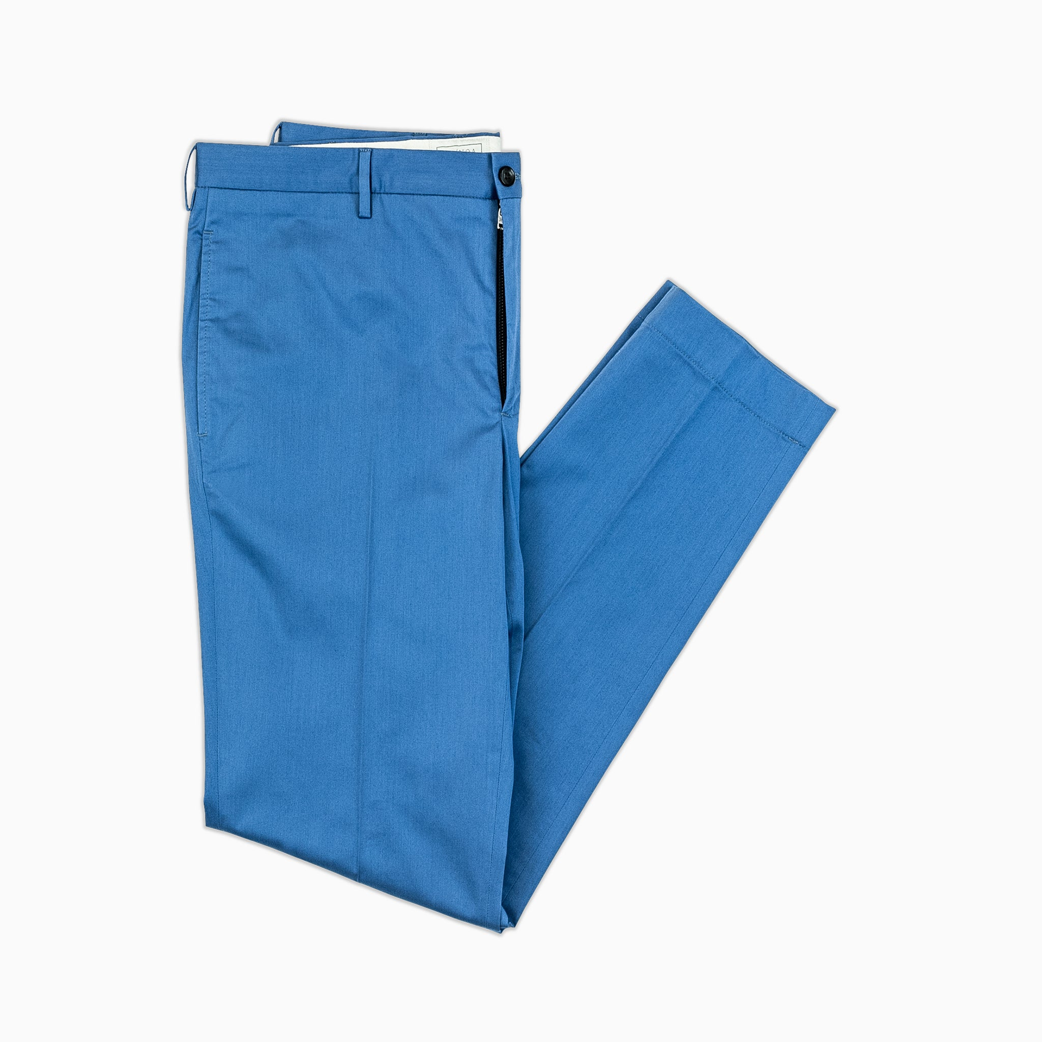 Arbaud chino pants in fine stretch gabardine cotton (river blue)