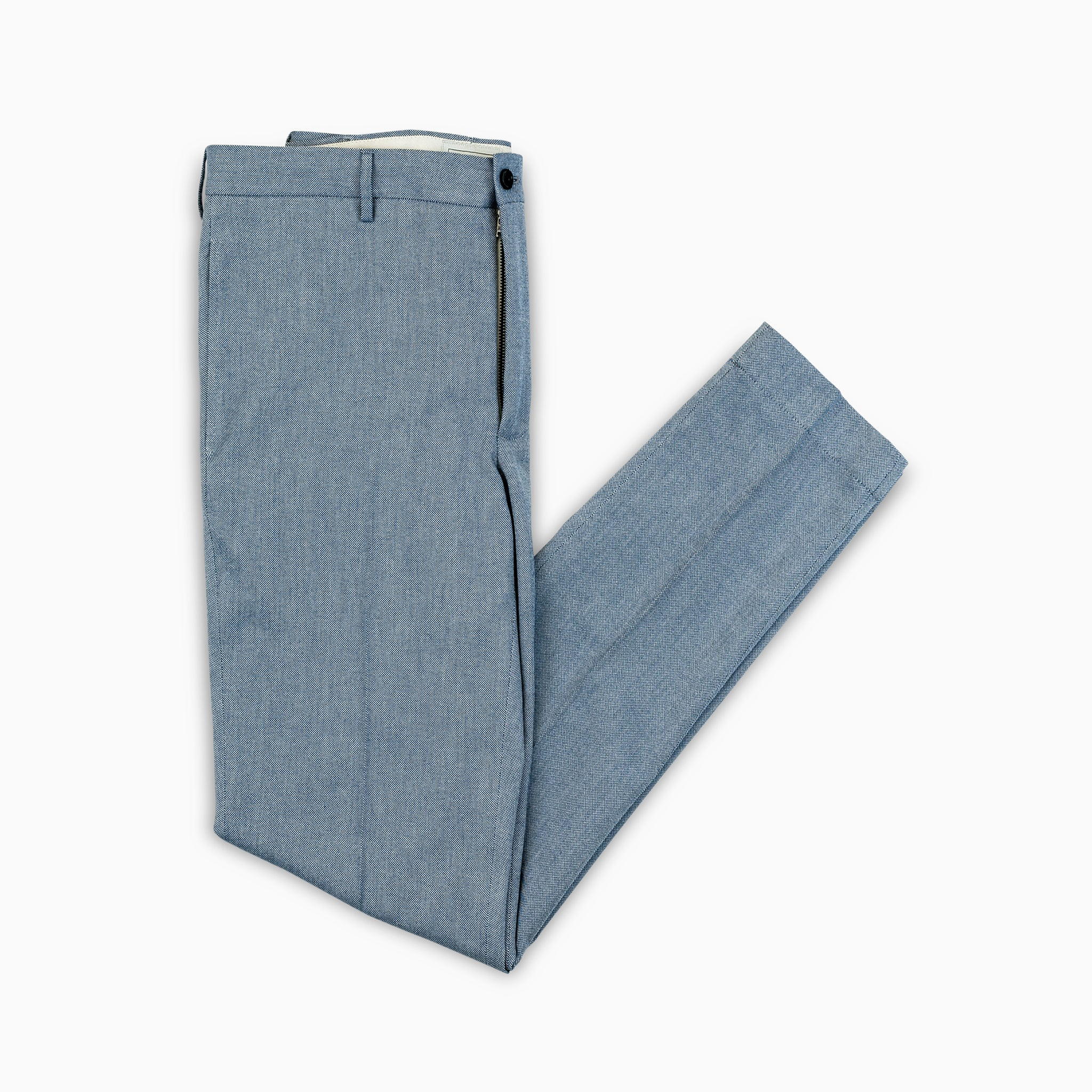 Arbaud chino pants in soft panama cotton (sky blue)