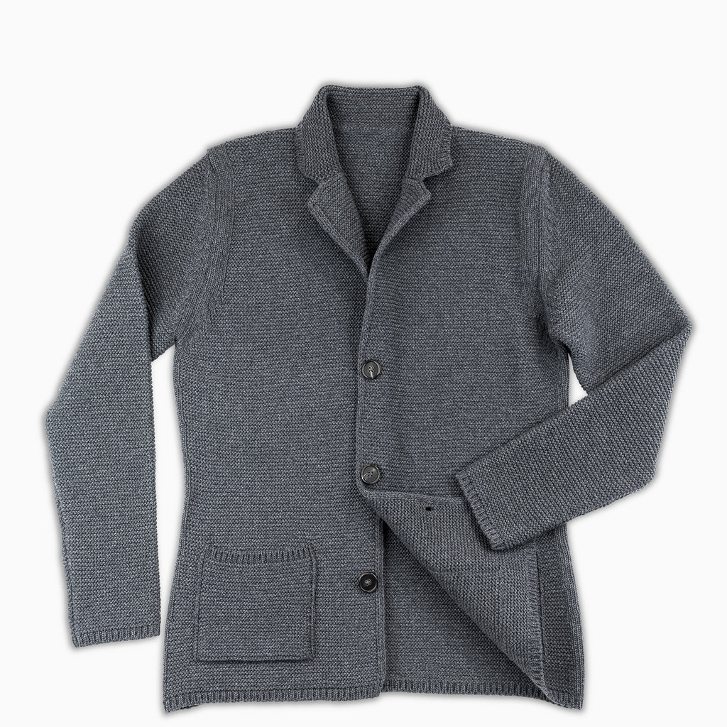 Augustin Knitted blazer(Dark Grey)