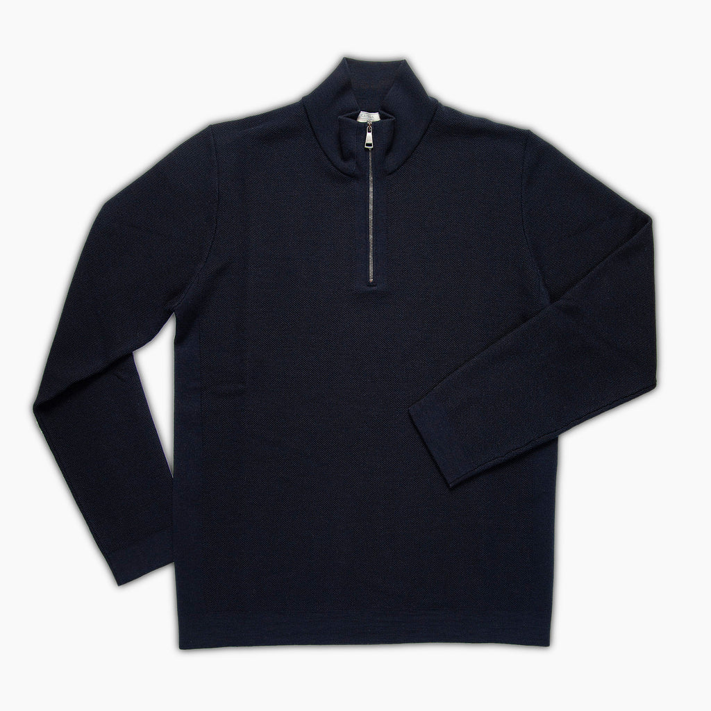 Alexis half-zip polo neck Extrafine Wool (Dark blue)