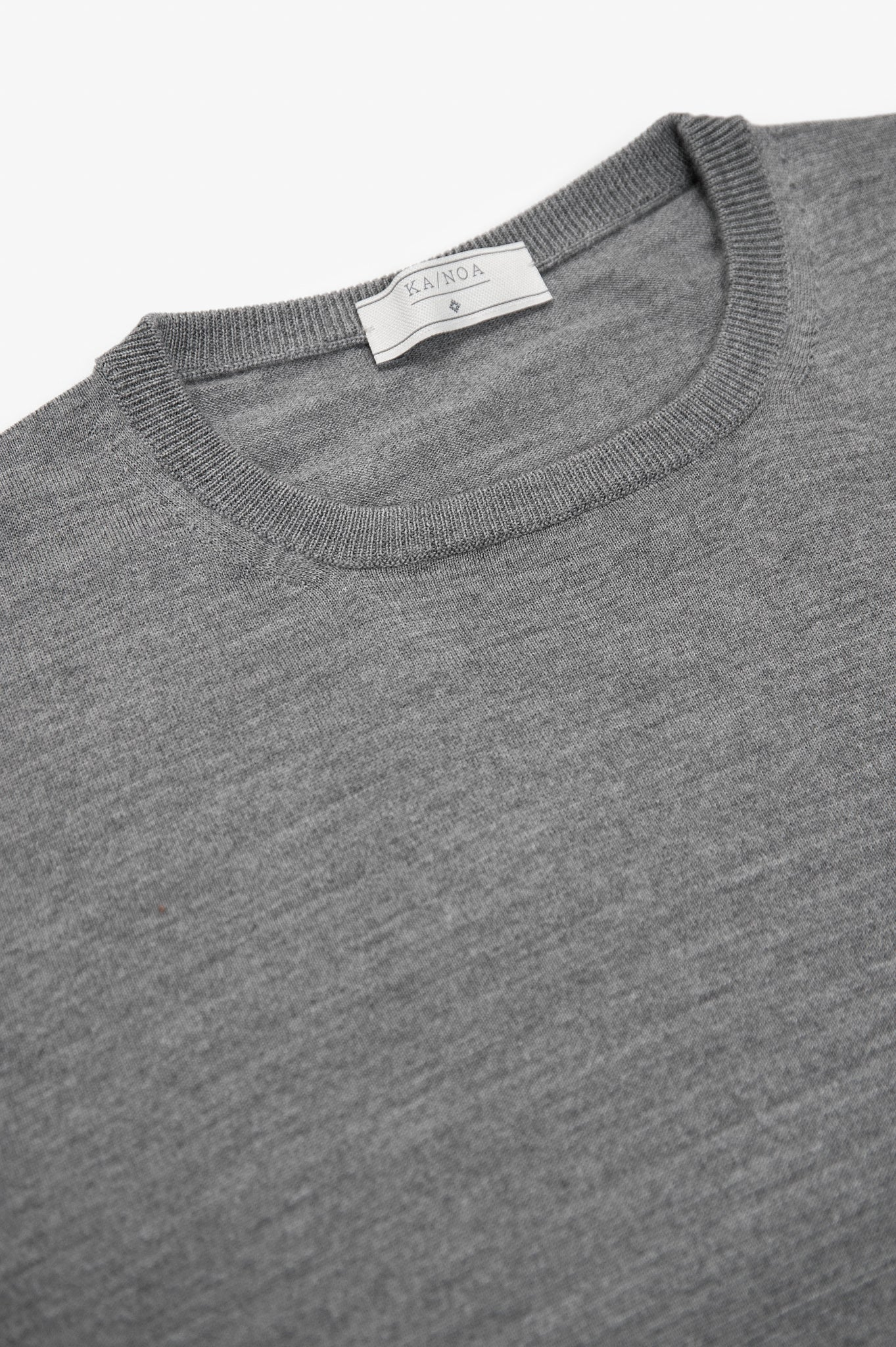 Anaclet crew-neck jumper merino wool(Urban Grey Melange)