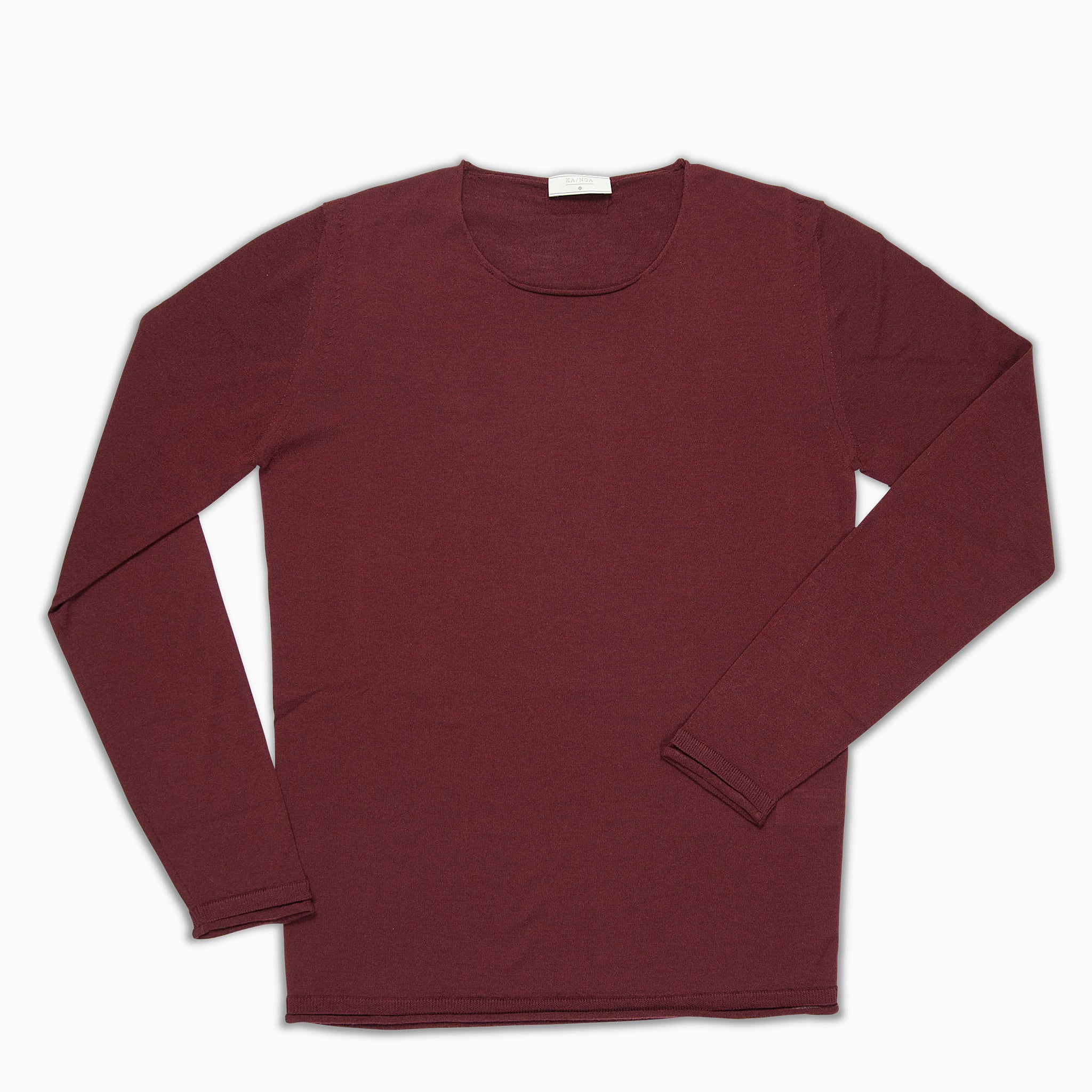 Andreieu crew-neck jumper Superfine Merino Wool (Burgundi)