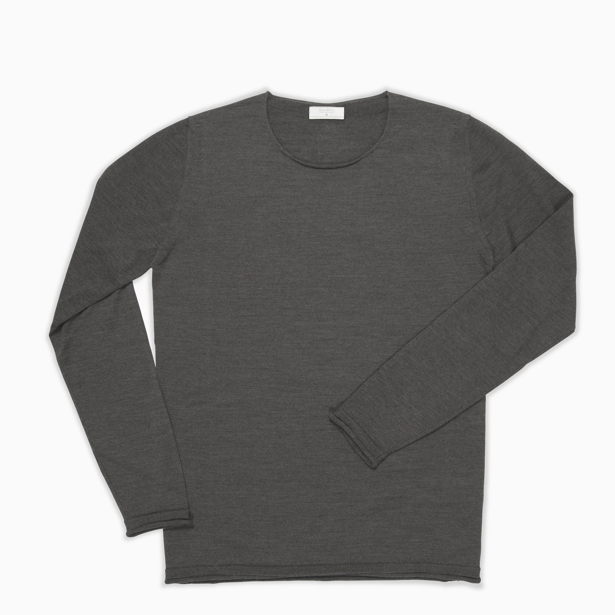 Andreieu crew-neck jumper Superfine Merino Wool (Old Field Melange)