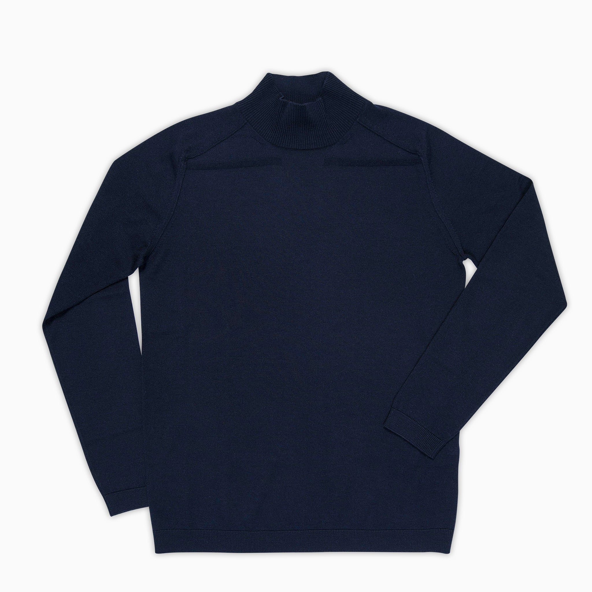 Aristide cycling collar jumper Extrafine Wool (Dark Blue)