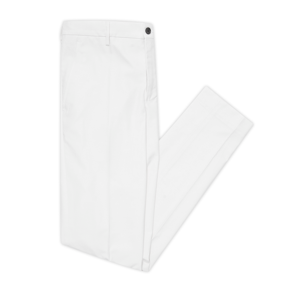 Arbaud chino pants in soft panama cotton (natural white)