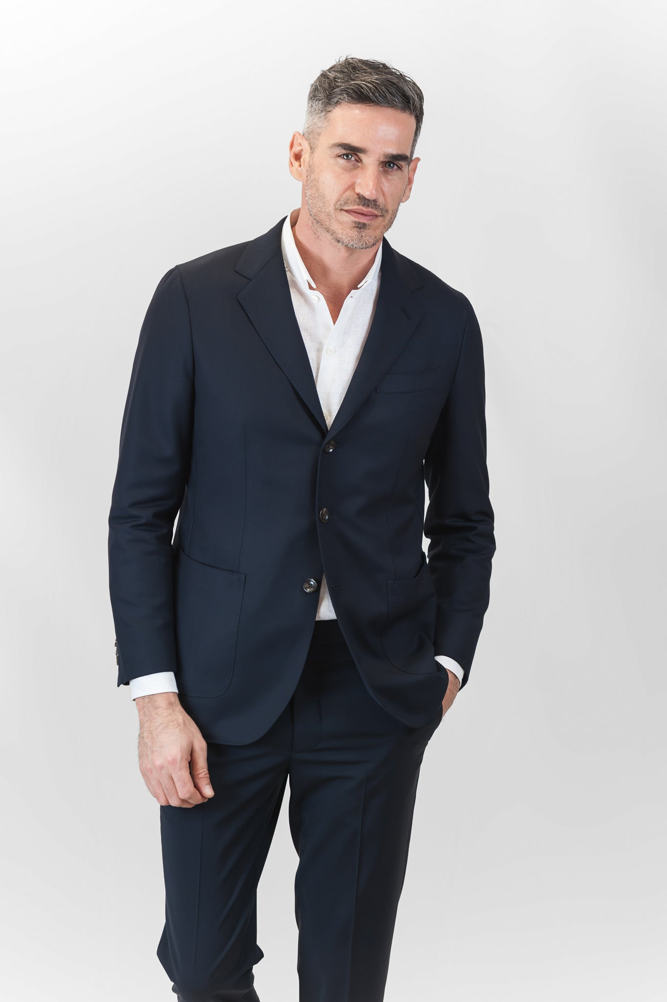 Blasi Urban Canvas Wool Blazer (dark blue)