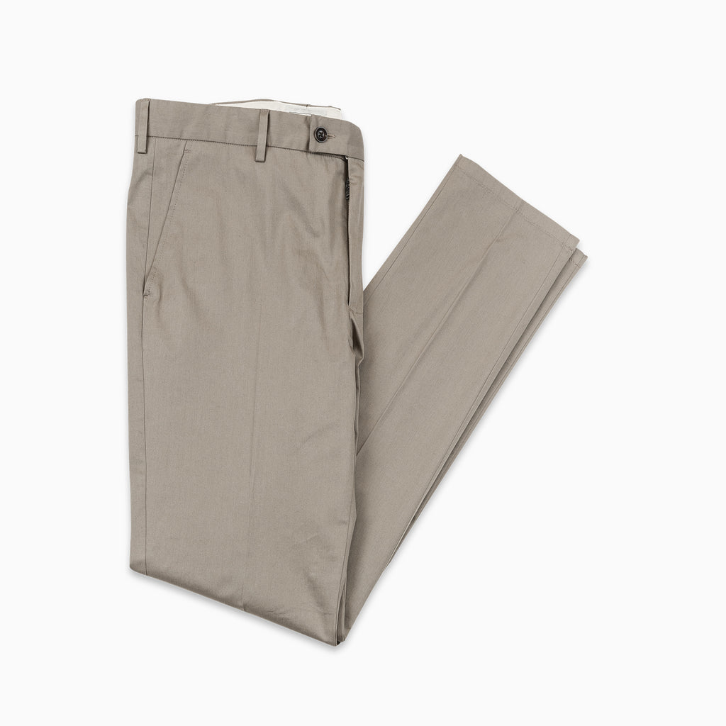 Boris Chino Pants Fine Stretch Cotton Gabardine (khaki beige)