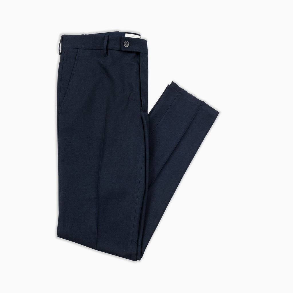 Boris Chino Pants Soft Cotton Panama (dark blue)