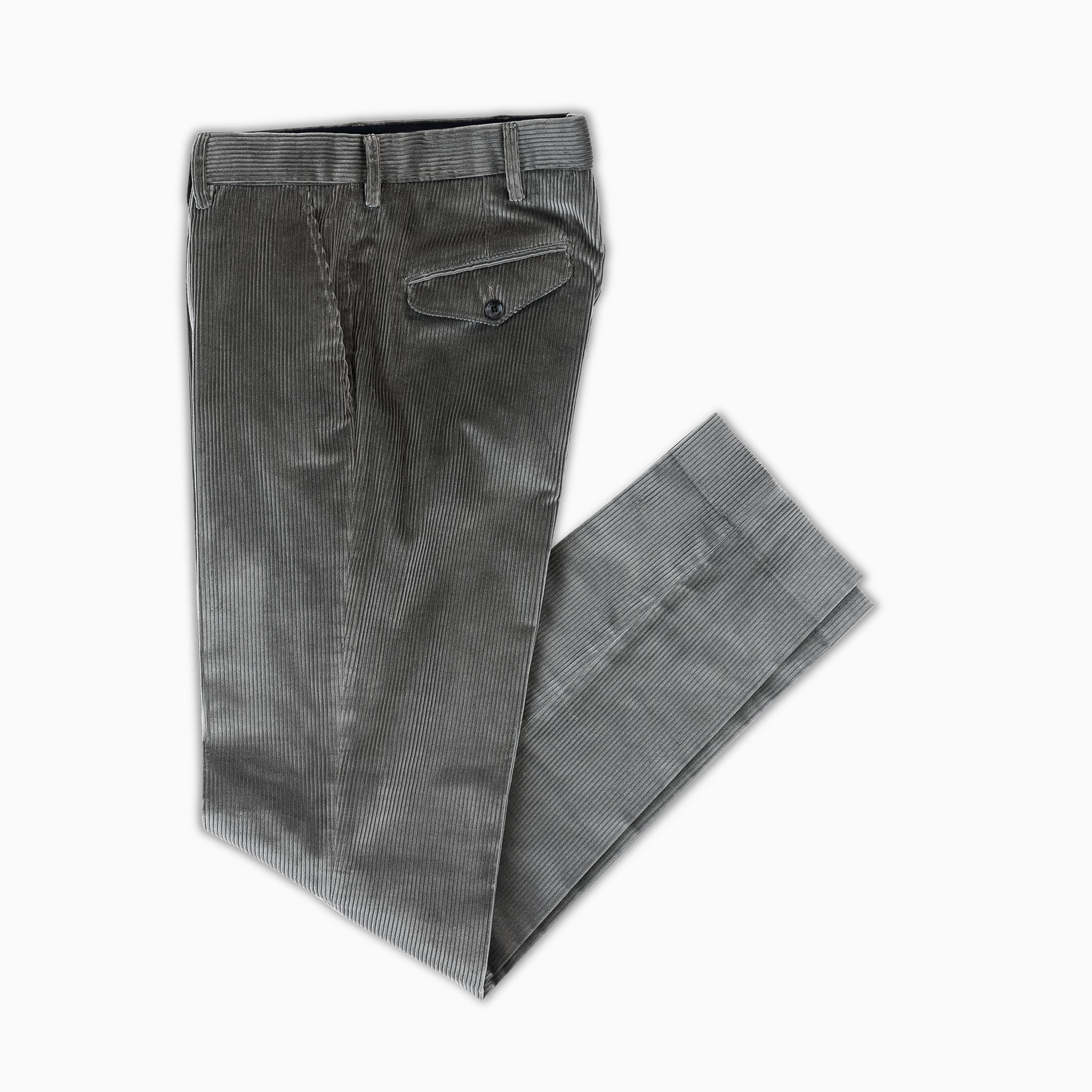 Boris Chino Pants Soft Cotton Corduroy (mud grey)