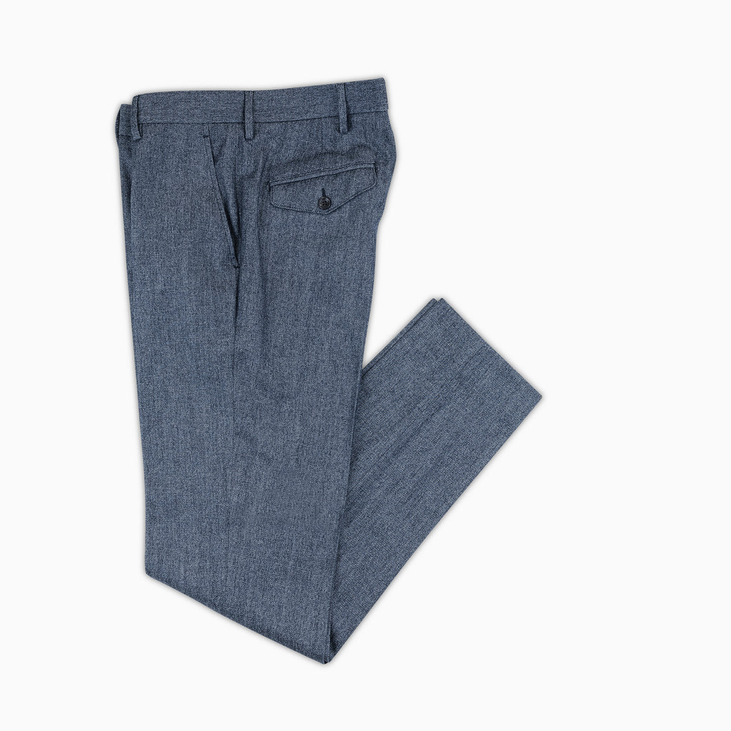 Boris Chino Denim Pants Cotton and Wool Stretch (dark blue)