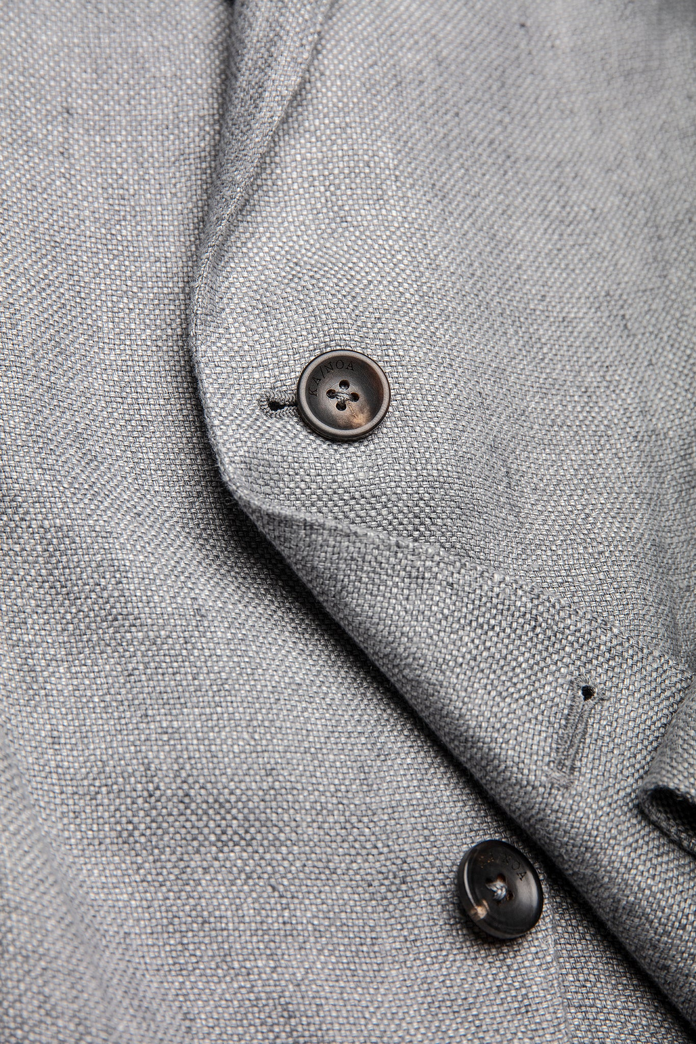 Bernat two-button blazer in delavé linen (stone grey)