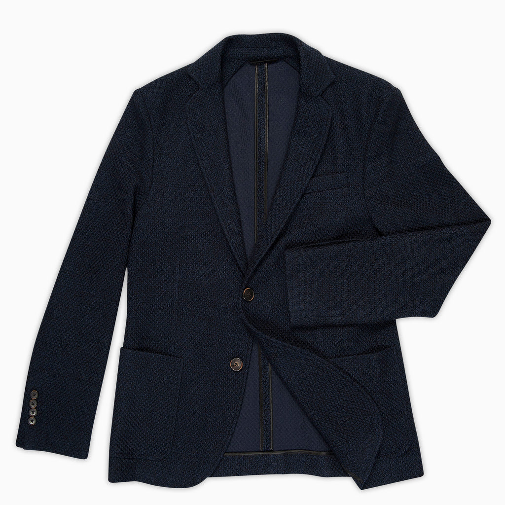 Coustan Structure Tech Piquet Knit Wool Blazer (dark blue)