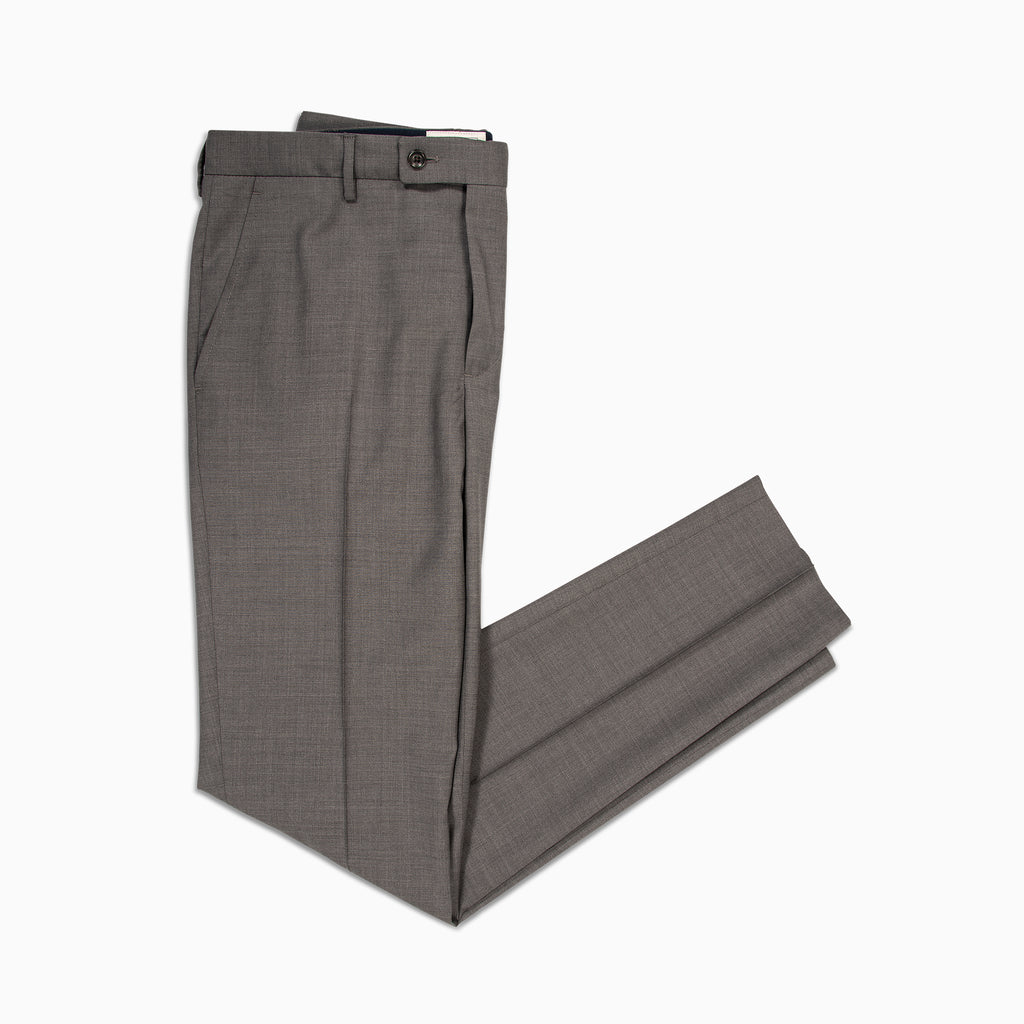 Boris Chino Pants Classic Light Wool Super 100' (charcoal grey)