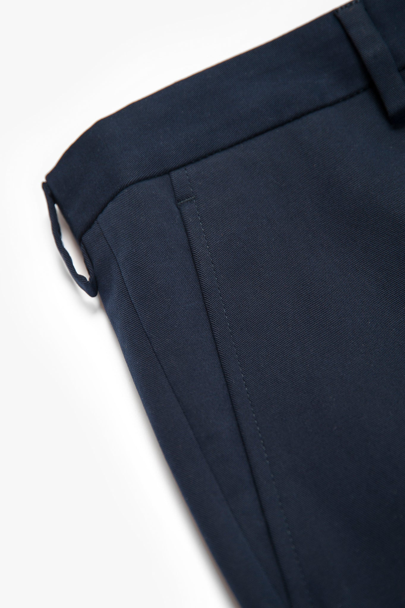 Boris Chino Pants Luxury Stretch Cotton Gabardine (dark blue)