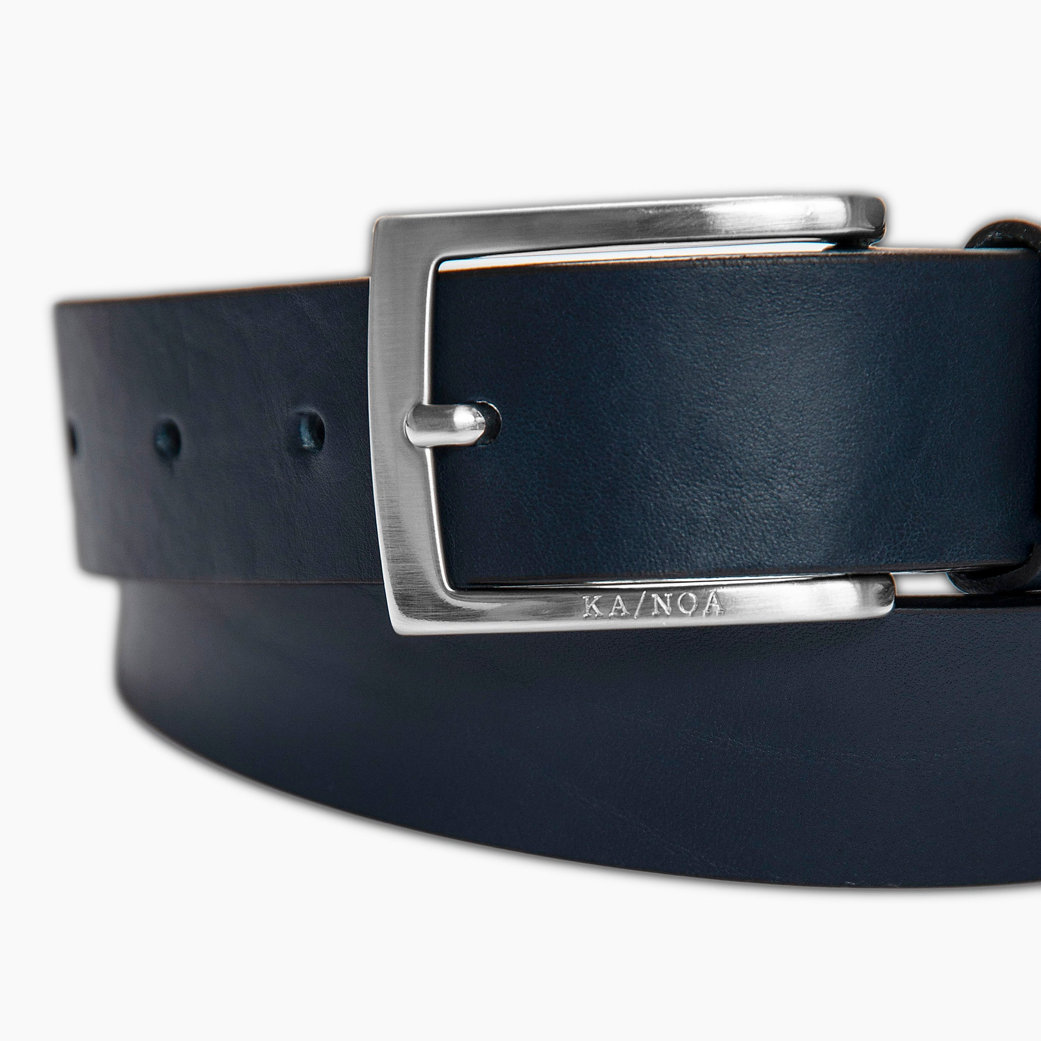 Briac Leather Belt (dark blue)