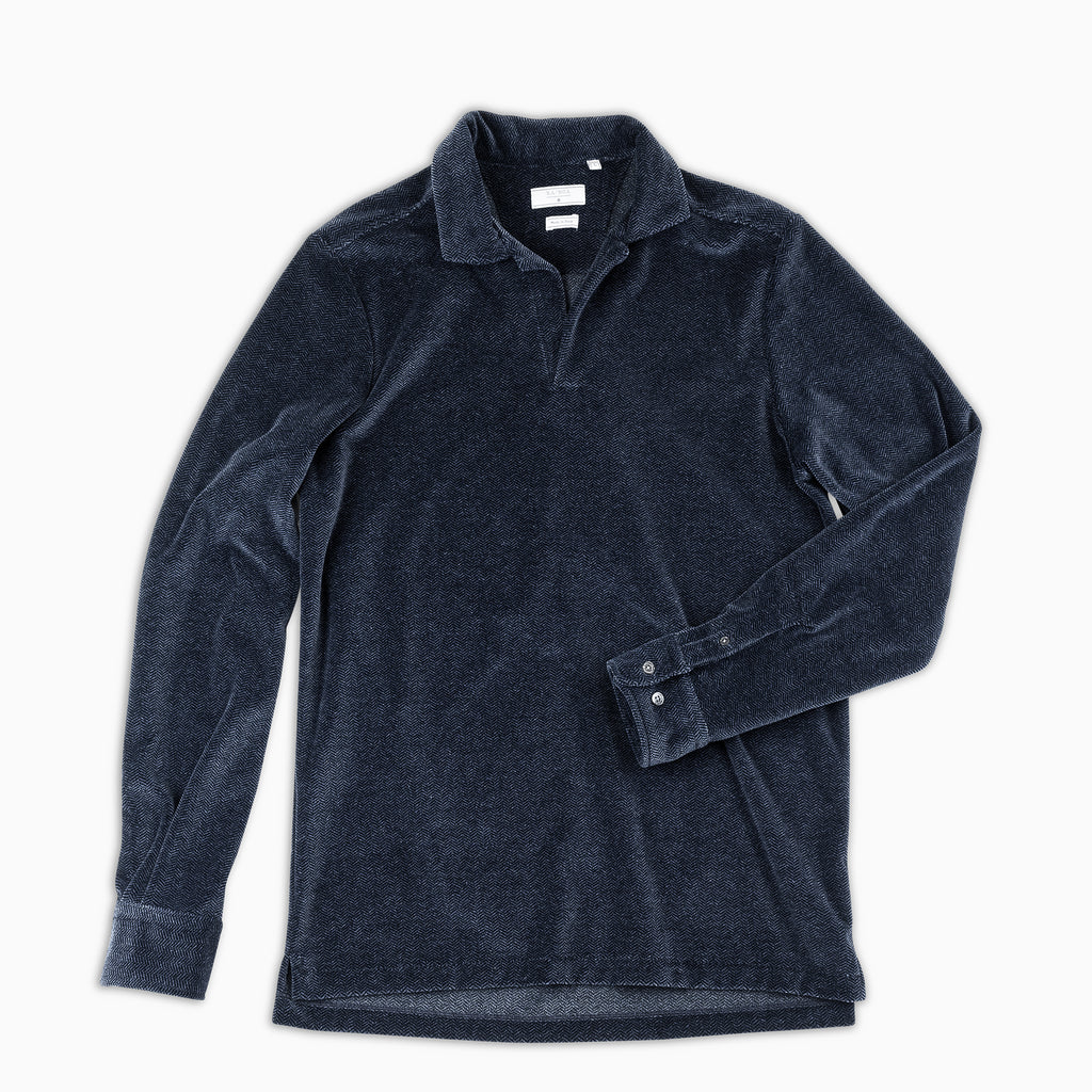 Calist Chenille Vintage Polo (Dark Blue)