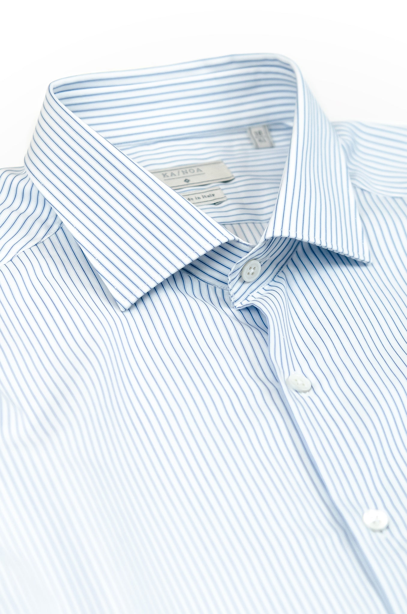 Clamenc long-sleeved shirt in stripe piquet