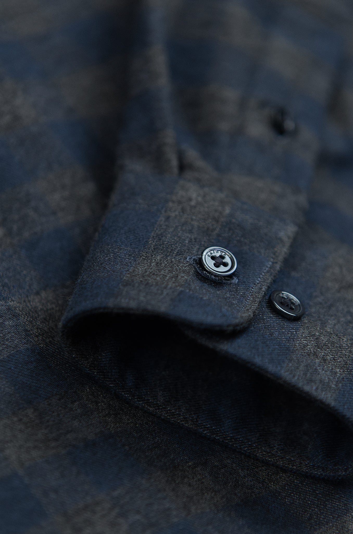 Clamenc Soft Polar Flannel Shirt (check dark grey)