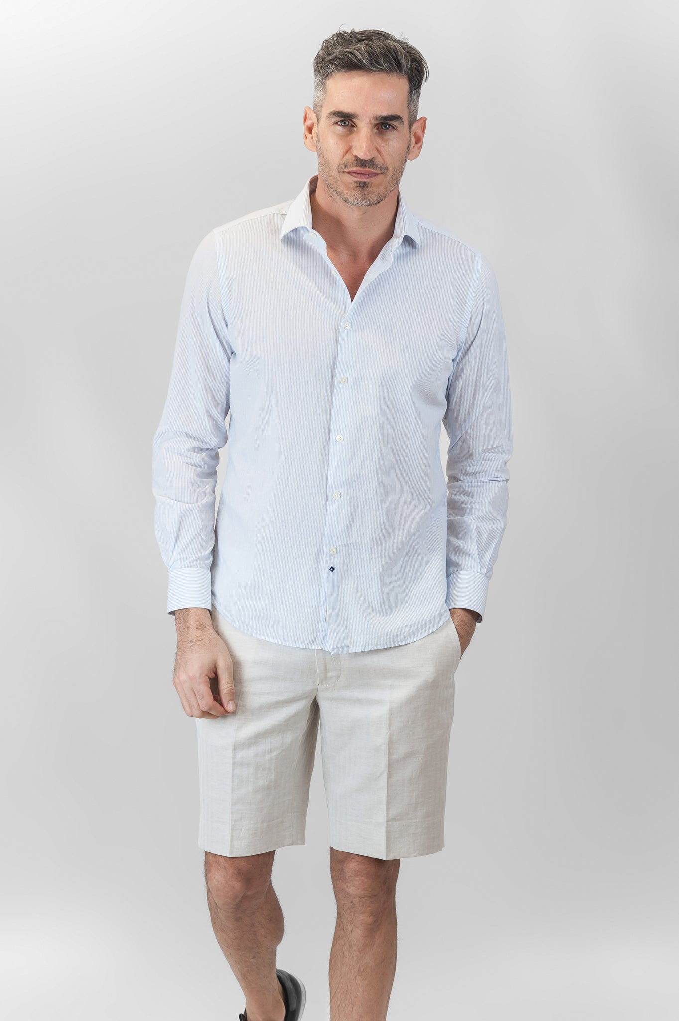 Clamenc Soft Stripe shirt (linen and cotton)