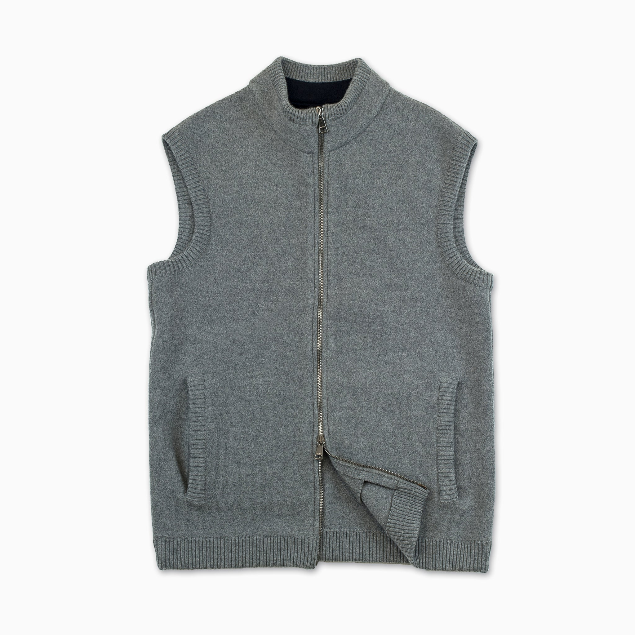 Claude felted woollen Vest (urban grey)