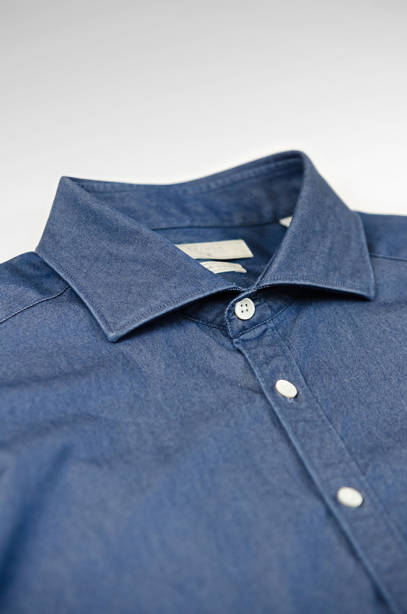 Clodoveu Soft Light Denim Shirt (ocean blue)