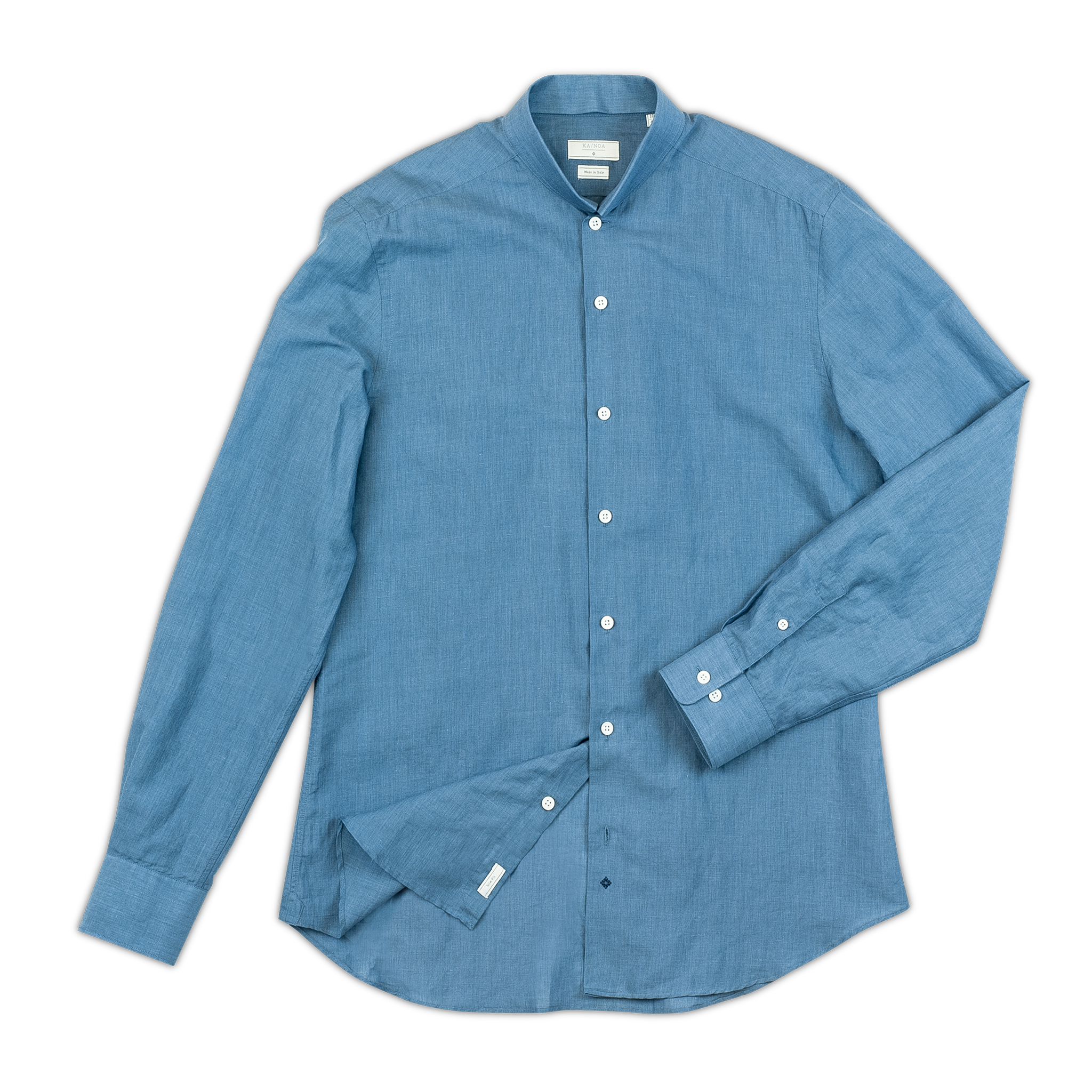 Conrad long-sleeved shirt in light voile linen (sugar paper)